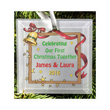 Personalised 1st Christmas Together Glass Hanging Tree Ornament Decoration Gift