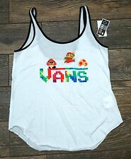 NEW Womens White Tank Top Tie Dye Mario - S M L XL