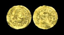 OA-WTFW - LOMBARDS - Time of Albion & Cleph, Gold Tremissis, c565-584AD.  V-RARE