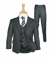 Boys Formal Charcoal Grey Suit Italian Wedding Prom Page Boy Dark Grey Suit