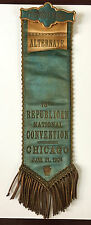 PRESIDENT THEODORE ROOSEVELT REPUBLICAN CONVENTION PA DELEGATE BADGE RIBBON 1904