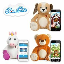 """New Cloud Pets 12"""" Unicorn Teddy Bear Or Dog Interactive Soft Toy App Official"""