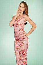 Stop Staring Ariana Fitted Dress in Pink Vintage Floral Print NWT