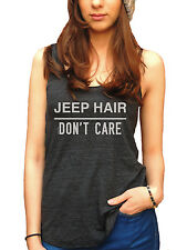 Jeep Hair Dont Care American Apparel Tri-Blend Racerback Funny Yoga Tank Top