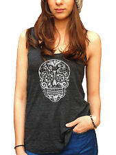 Day Of The Dead American Apparel Tri-Blend Racerback Funny Yoga Tank Top Graphic