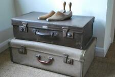 luggage stack of two old vintage suitcases
