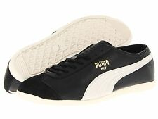 Puma Fit Shoes Mens Athletic Black Off White Leather Trainers Fashion Sneakers