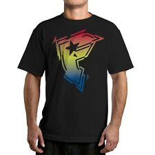 Famous Stars and Straps Frenzy Men's Tee Colorful Family Logo Black T-shirt