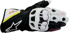 ALPINESTARS GP Plus Leather Motorcycle Gloves (Black/White/Ylw/Red) Choose Size