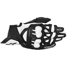 ALPINESTARS GPX Leather Motorcycle Gloves (Black/White) Choose Size