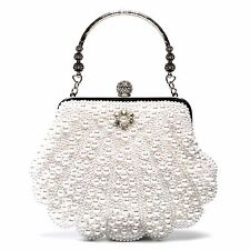 Mlife Full Beaded Rhinestone Evening Bag Wedding Purse Bridal Clutch Handbags