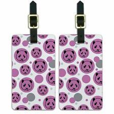 Luggage Suitcase Carry-On ID Tags Set of 2 Cute Panda Face