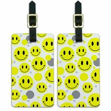 Luggage Suitcase Carry-On ID Tags Set of 2 Smiley Face