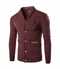Mens Causual V-neck Cardigan Knitwear Pullover Slim Fit Sweater Jacket Coat Tops
