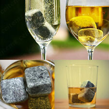 1/9pcs Whisky Ice Stones Drinks Cooler Cubes Whiskey Scotch Rocks Granite Pouch