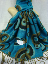 Fashion Classic Reversible Circle Ring 70% Pashmina 30% Silk Scarf Stole Wrap