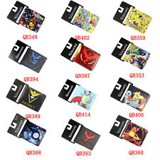 Pokemon Go Pikachu Anime Cosplay Wallet Boys Girls Bifold Leather Purse