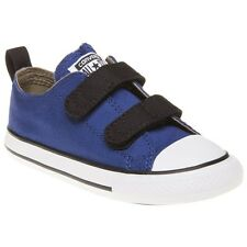New Infants Converse Blue Chuck Taylor All Star 2v Canvas Trainers Velcro