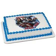 Avengers Captain America Superhero Edible Cake OR Cupcake Toppers Decoration