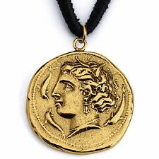 Arethusa Nymph Greek Necklace #14k Gold Plated Sterling Silver #Azaggi N0452G