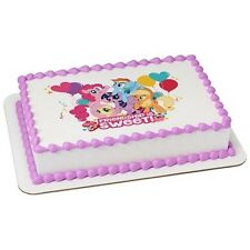 My Little Pony Edible Cake OR Cupcake Toppers Decoration (Friendship is Sweet)