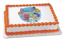 Bubble Guppies Edible Cake OR Cupcake Toppers Decoration