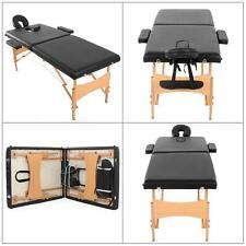 "2 Pad 73"" Massage Table Kit Folding Facial Bed Beauty Tattooing Bed For Spa A9Q8"