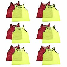 ADULT Sports Practice Pinnies Jerseys for Scrimmage Training Footballl Soccer