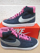 nike blazer mid vintage (GS) womens youths trainers 539930 406 sneakers hi tops