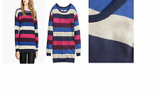 H&M knit stripe multi coloured stripe womens knitted pull on jumper size 8-20