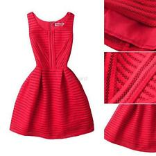Fashion Women Sleeveless Dress Prom Cocktail Party Evenning Bodycon Mini Dresses