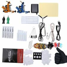 Complete Tattoo Kit 29 Color Inks Power Supply 2 Top Machine Guns PUS
