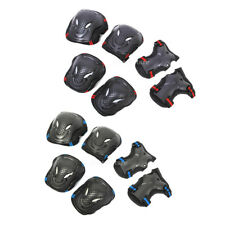6PCs / Set Roller Skating Skateboard Knee Elbow Wrist Protective Guard Pads Gear