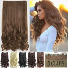 100% Thick One Piece Full Head Clip In Hair Extensions Long Nayural As Human Fd1