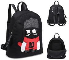 LADIES BACKPACK BLACK/RED RUCKSACK SCHOOL HOLDALL GYM TRAVEL SHOULDER BAG