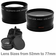 Wide-Angle HD Lens w Macro + Pro 2x HD Telephoto Dual Lens Kit  Attachments