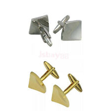 1 Pair Stainless Steel Men's Tile Shape Wedding Cuff Link CUFFLINKS Shirt Set