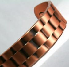 Mens Magnetic Therapy Bangle Bracelet Copper Large or Small    (BG20)