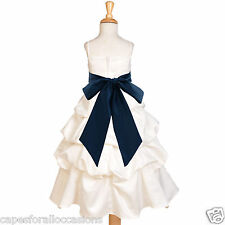 IVORY TODDLER PARTY WEDDING GIRL DRESS FLOWER QUINCEANERA 4 5T 6 7 8 10 12 14 16