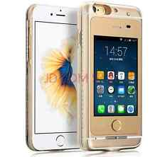 New Standby Dual SIM GSM Android 4.4 Smart Phone Case Cover for iPhone 6/6S Plus