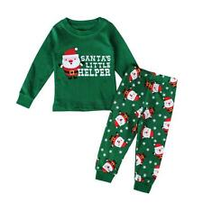 Xmas Clothes Kids Baby Girls Boys 2pcs Sleepwear Pajamas Outfits Nightwear Set