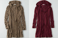 American Eagle Outfitters AEO FEATHER LIGHT HOODED CARDIGAN