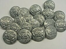 New Lot Silver/Nickel Metal Buttons Royal Crest 11/16, 13/16, 7/8 inch (S26)