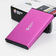 "MasterStor External Hard Drive USB 3.0 Super Fast 2.5"" Laptop SATA HDD Pink"