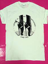 Adam & the Ants Whip print Punk rock UK white t-shirt seditionaries BOY S - 2XL