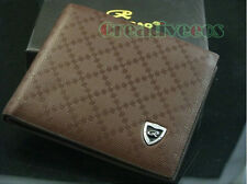 Fashion Men's Rhombus Plaids Wallet Pocket Bank Card Clutch Cente Bifold Purse