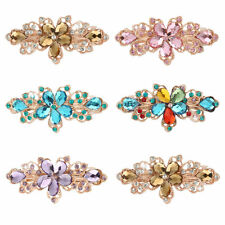 Crystal Flower Hair Clip Barrette Hairpin Clamp Hair Pin Rhnistone Hairpin f5