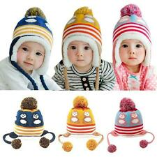 Baby Toddler Girl Boys Winter Earflap Kid Animal Knitted Cap Warm Crochet Hat