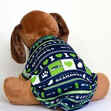 Seattle Seahawks Logo Patterned Dog Shirt NFL Football Official Pet Product