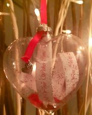 PERSONALISED KISSES & WISHES MESSAGE IN A BAUBLE CHRISTMAS TREE DECORATION GIFT
